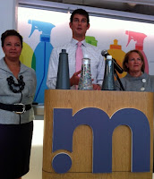 Lisa Jackson (EPA), Adam Lowry of Method, and Karen Mills (SBA)
