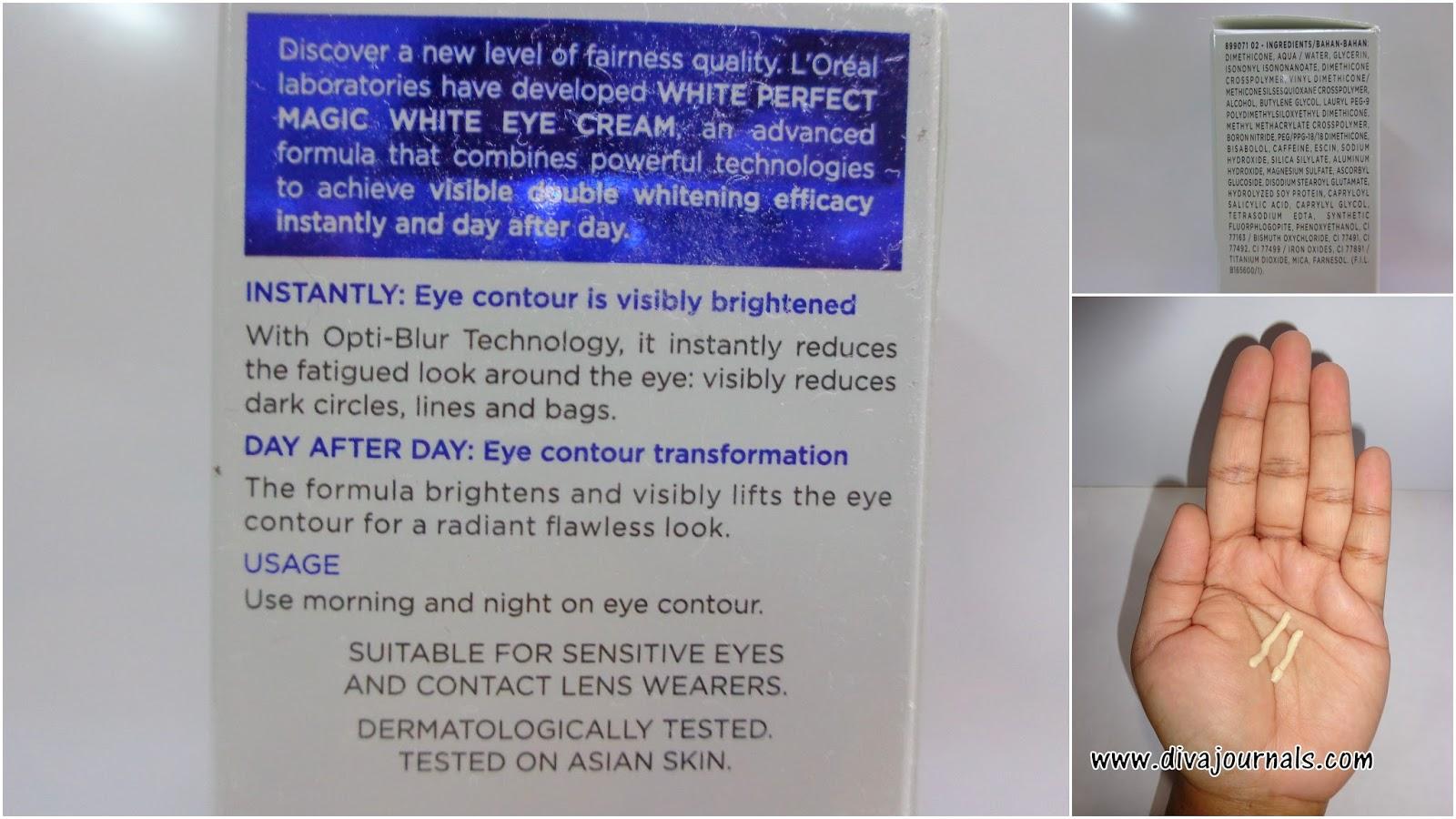 L'oreal Paris White Perfect Magic White Double Whitening Cream SPF 19 & Eye Cream Reviews