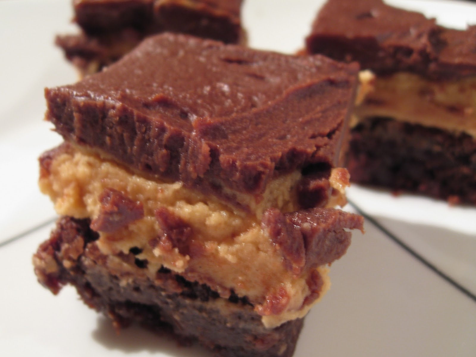 Belle's Baking: Peanut Butter Truffle Brownies