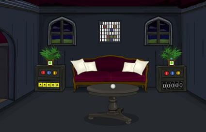 Dazzling Dark Living Room Escape