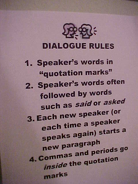 how to write dialogue poster