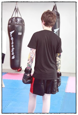 Greyson Chance Boxing Shorts in Bangkok Thailand 2012