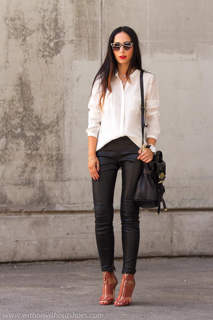 BLogger de moda de Valencia en la fashion wwek de madrid con look urbano chic