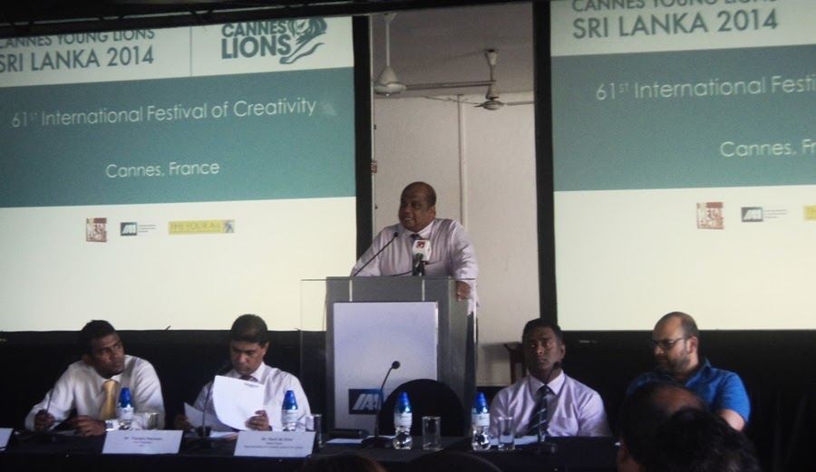 Ranil de Silva, of Metal Factor,  local representaive for Cannes Lions