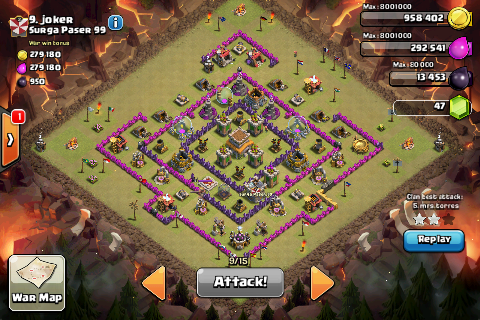 TH8 War Base Lay Out