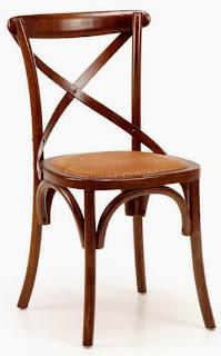 Silla Paris Asiento Rattan Cruz Duna, silla nogal comedor, silla salon