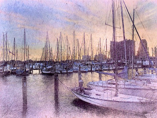The Harbor at Sunset © Solly Avenue