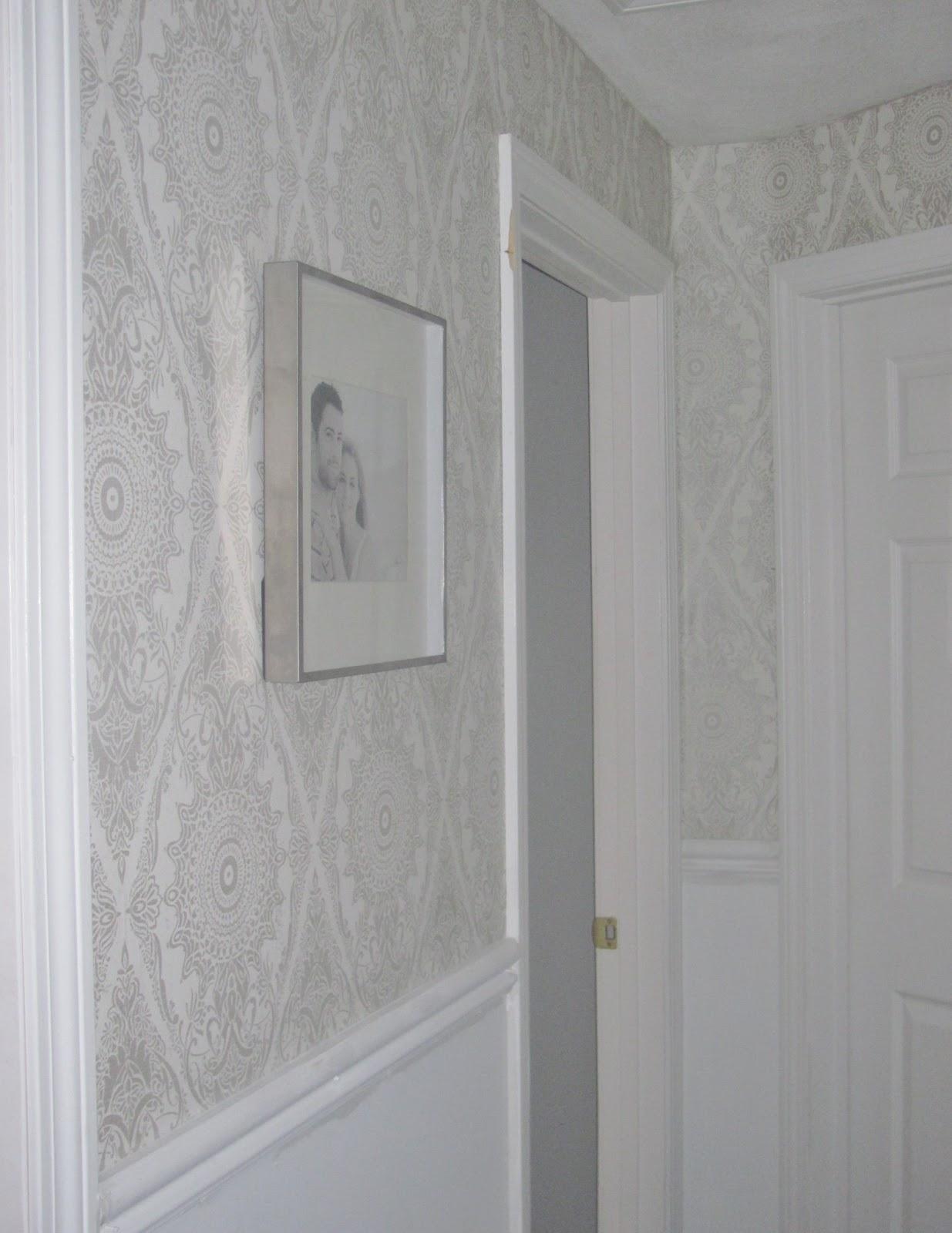 Deirdre desrosiers interiors wallpaper in hallway for Hallway wallpaper