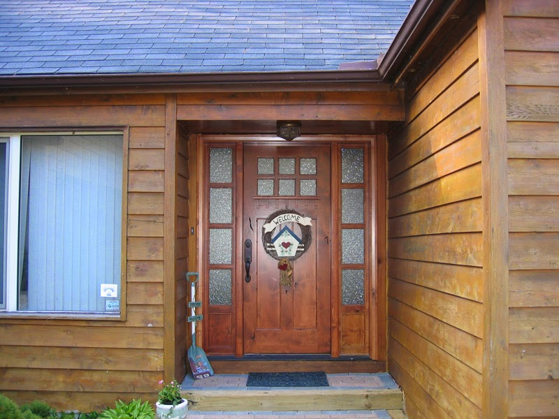 La puerta ideal madera de teca y decoraci n de exterior - Puertas casa exterior ...