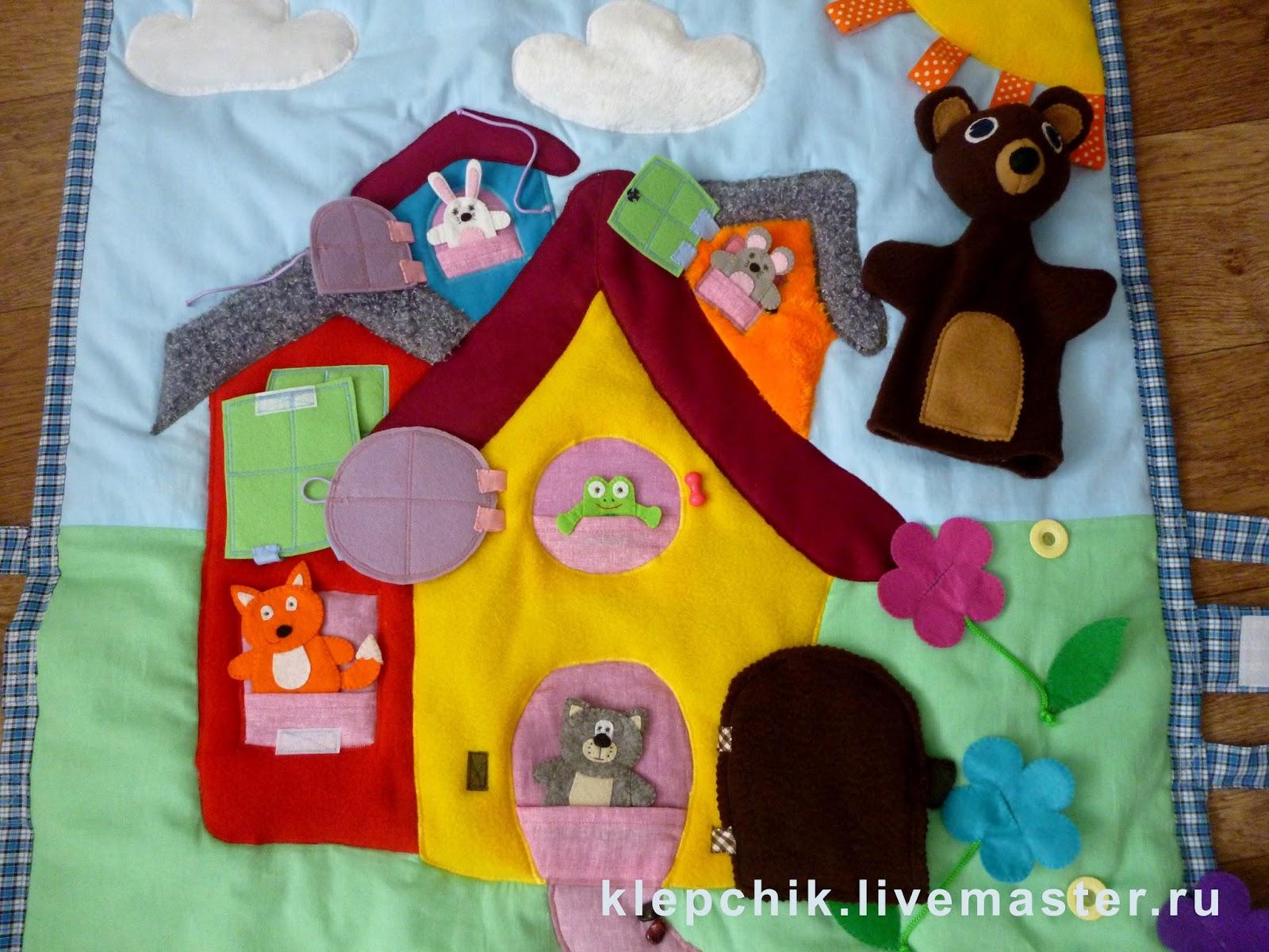 Выкройка развивающий коврик для детей своими руками 68