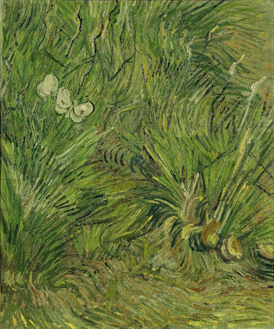 Vincent van Gogh - Have med sommerfugle - Garden with butterflies (1889)