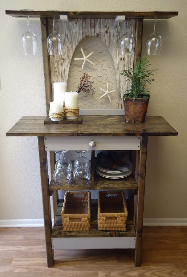 Accent Table with Poultry Wire - Available $250