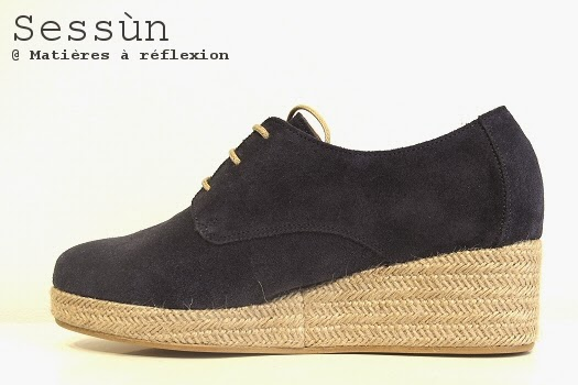 Derbies Sessun chaussures daim bleu marine Bloom