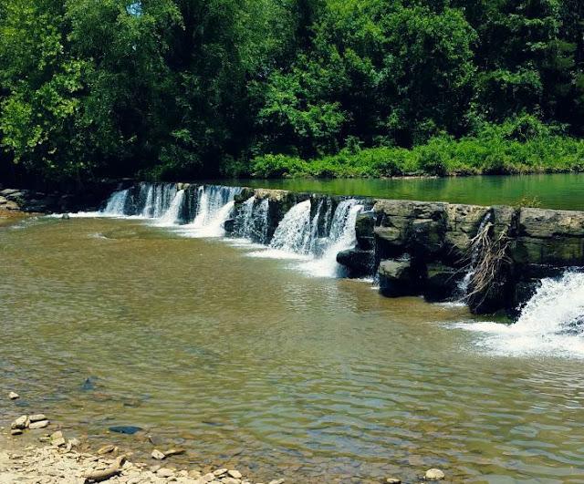 Natural Dam Falls and Swimming Hole in Natural Falls, AR