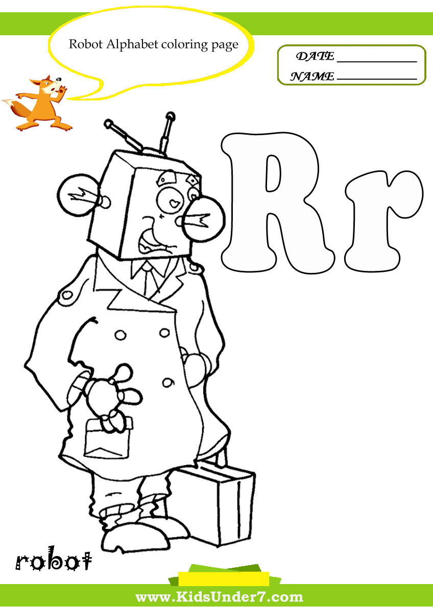r coloring pages - photo #45