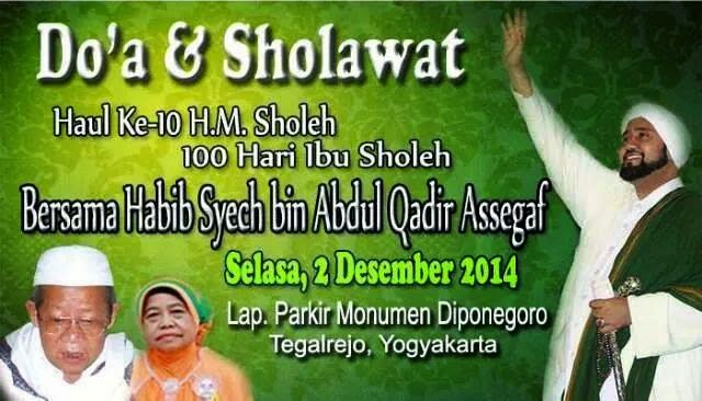 Doa dan Sholawat Yogyakarta 02 Desember 2014