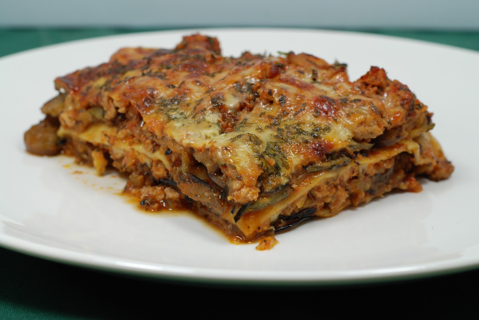 Chicken Lasagna with Roasted Vegetables
