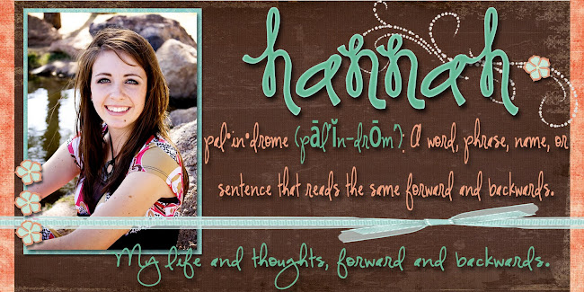 Life of Hannah: Forward and Backwards