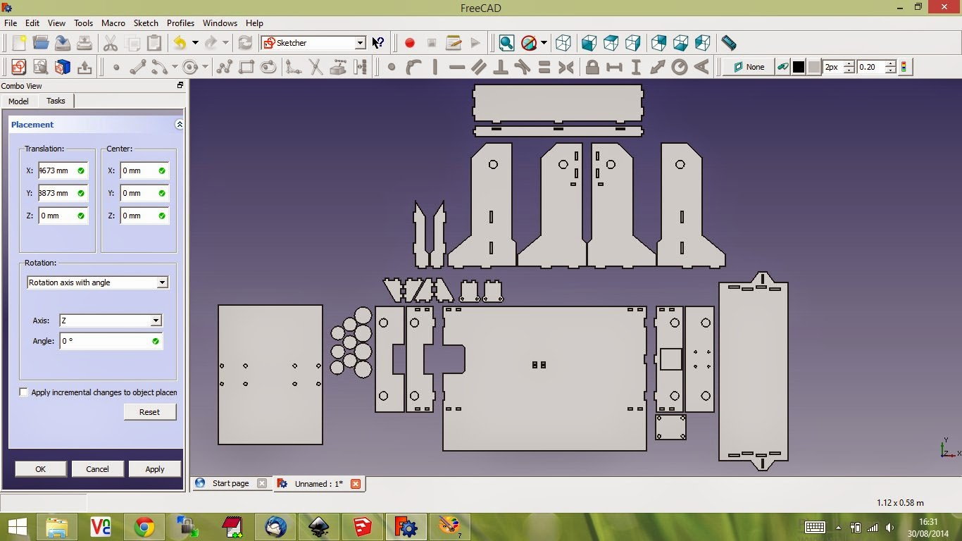 Nerd club freecad for assembling 3d laser cut shapes Simple 2d cad