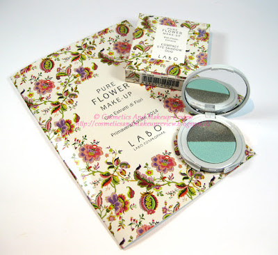 Labo Make-Up - Pure Flower Compact Eye-shadow Duo n.03 Olive green/Aqua green