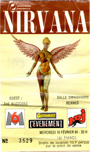 concert Nirvana, Nirvana concert France, Nirvana concert Rennes, Kurt Cobain concert, Nirvana Transmusicales, Salle omnisports Rennes, Nirvana live, Nirvana live 1994