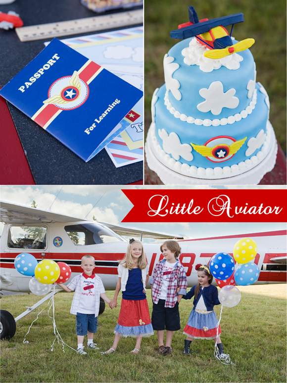 Little Aviator Airplane Inspired Birthday Party Desserts Table