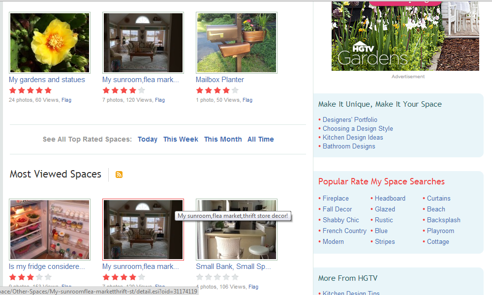 My fridge is in the Most Viewed Spaces on HGTV