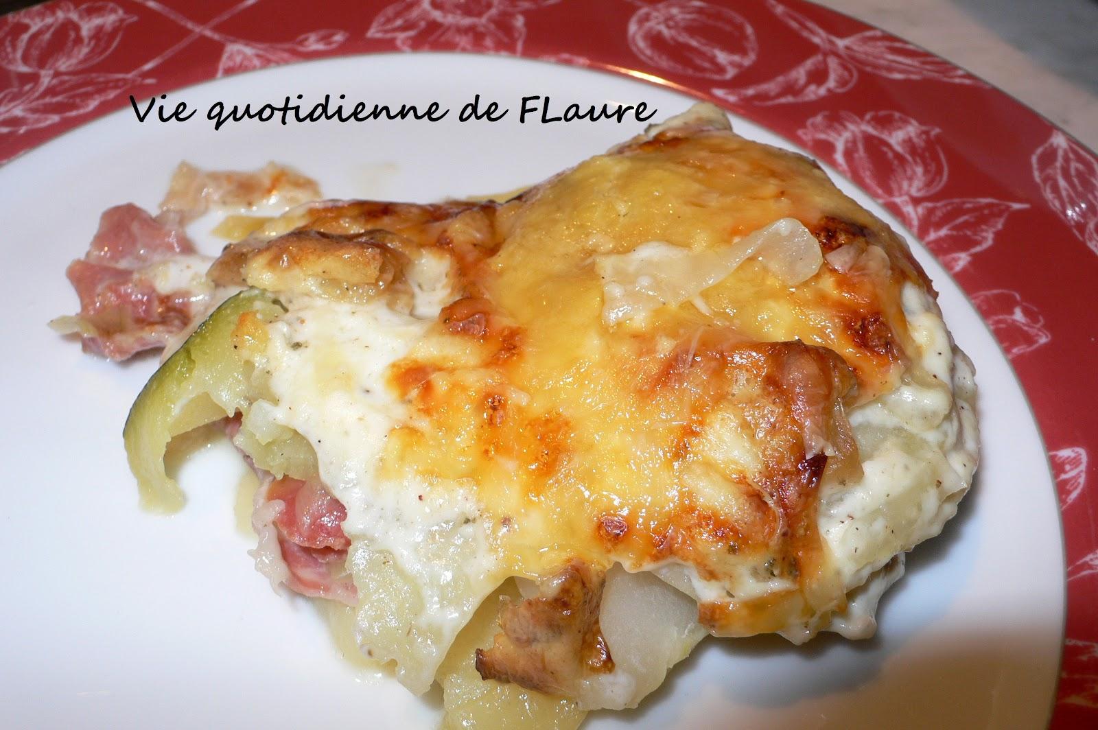 Gratin parmentier chou rave courgette jambon cru deux - Gratin de pomme de terre jambon ...