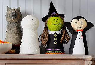 Ideas para Decoracion de Halloween con Tela Reciclada