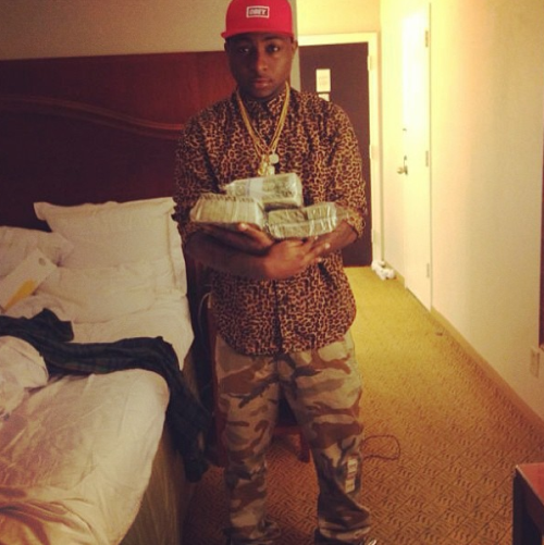davido jail dollar bills