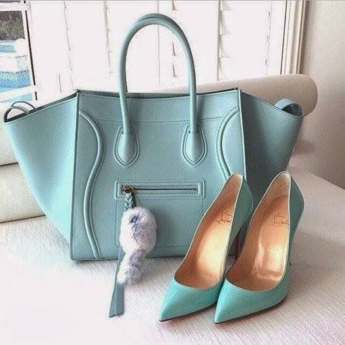 Three Matching Shoes And Bags.
