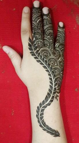 Khaleeji Mehendi Designs From UAE