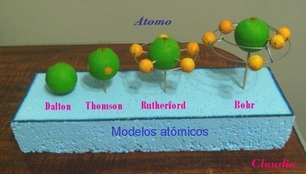 , los supuestos átomos están hechos con esferas de tecknopor