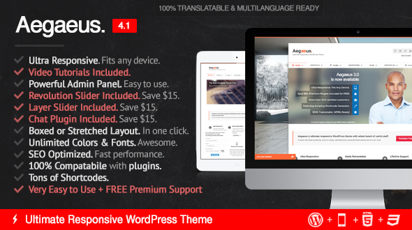 Aegaeus – Ultimate Multi-Purpose WordPress Theme