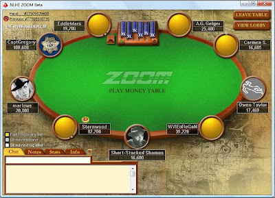 Short-Stacked Shamus tries out Zoom Poker on PokerStars