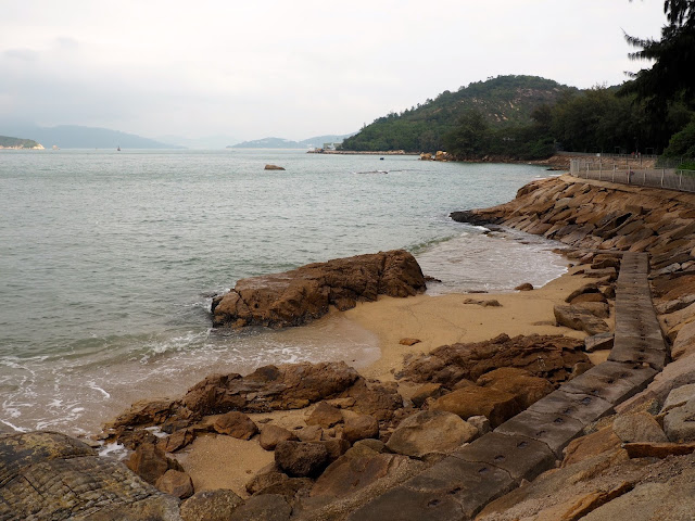 Rocks and beach on a coastal walk around the north of Cheung Chau Island, Hong Kong