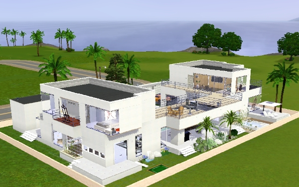 Koalafolio sims3 house living design mix modern style for Sims 4 modern house plans