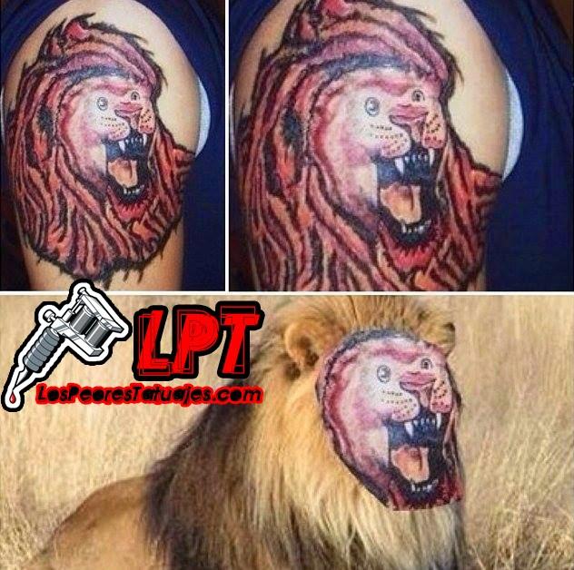 Tatuaje FAIL : Rostro de un león