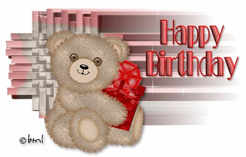 Cute Teddy Happy Birthday