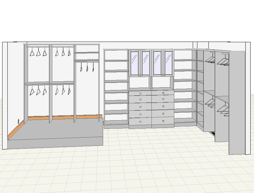 Closets for life sample 3d closet drawings - Free closet design software online ...