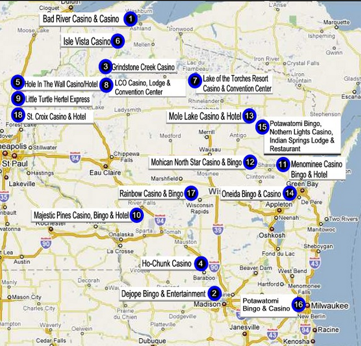 Wisconsin casino maps internet casino roulette system