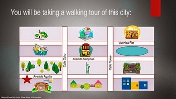 http://www.teacherspayteachers.com/Product/FREE-Adonde-Vamos-Around-Town-Spanish-Prepositions-PowerPoint-910448