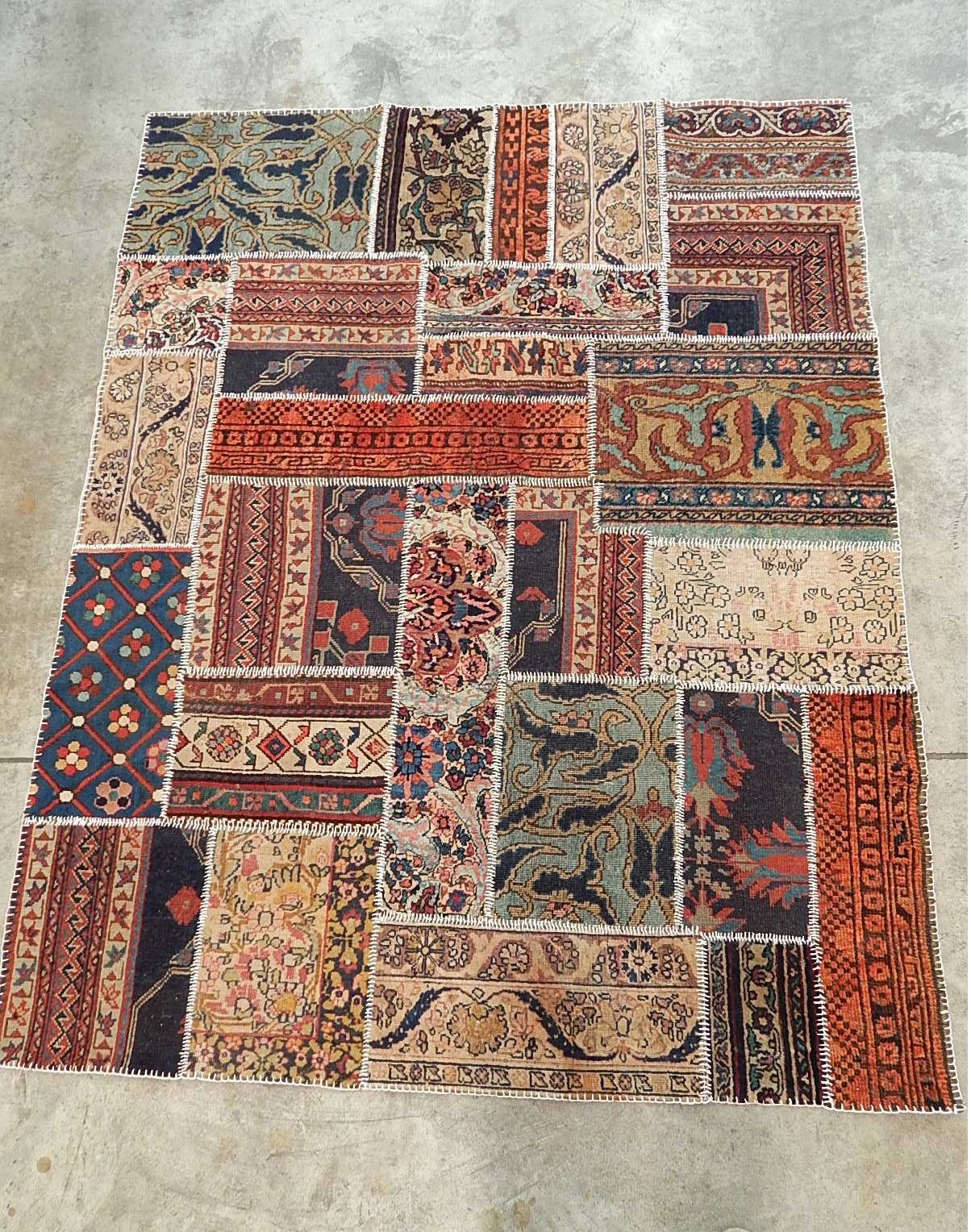 Sir xristian antiques patchwork de alfombras hechas a mano - Alfombras de patchwork ...