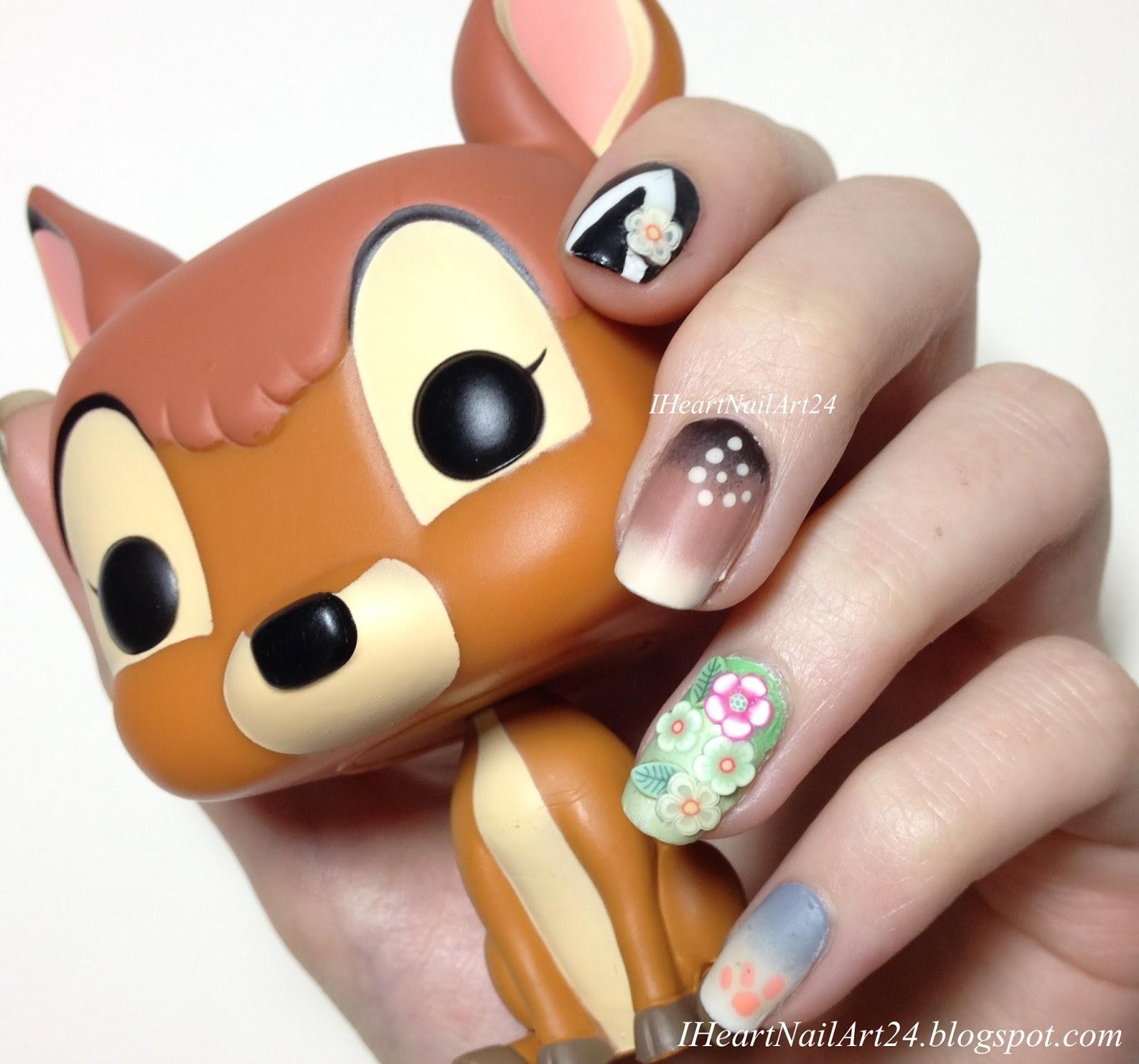 Bambi Nail Art | I Heart Nail Art