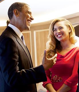 Barack Obama President Of America with sexy girl