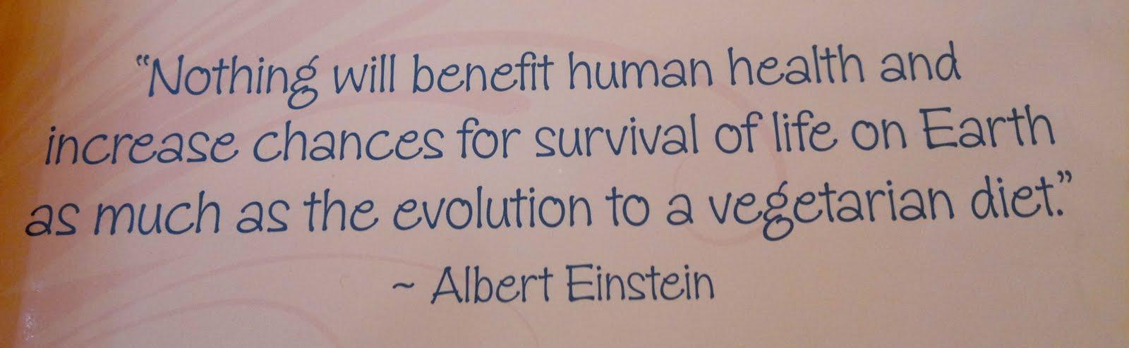 Einstein Quote Vegetarian Diet