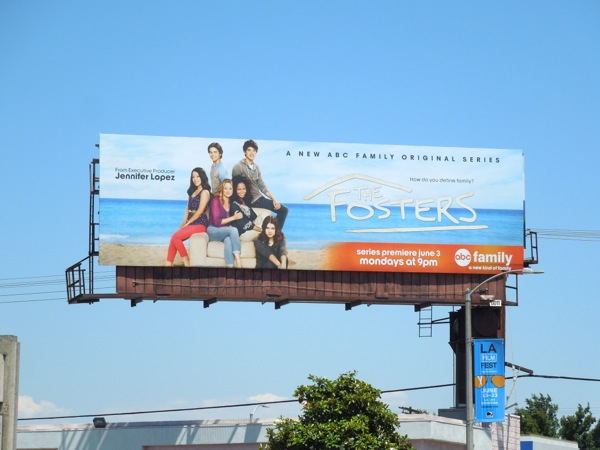 Fosters series premiere billboard