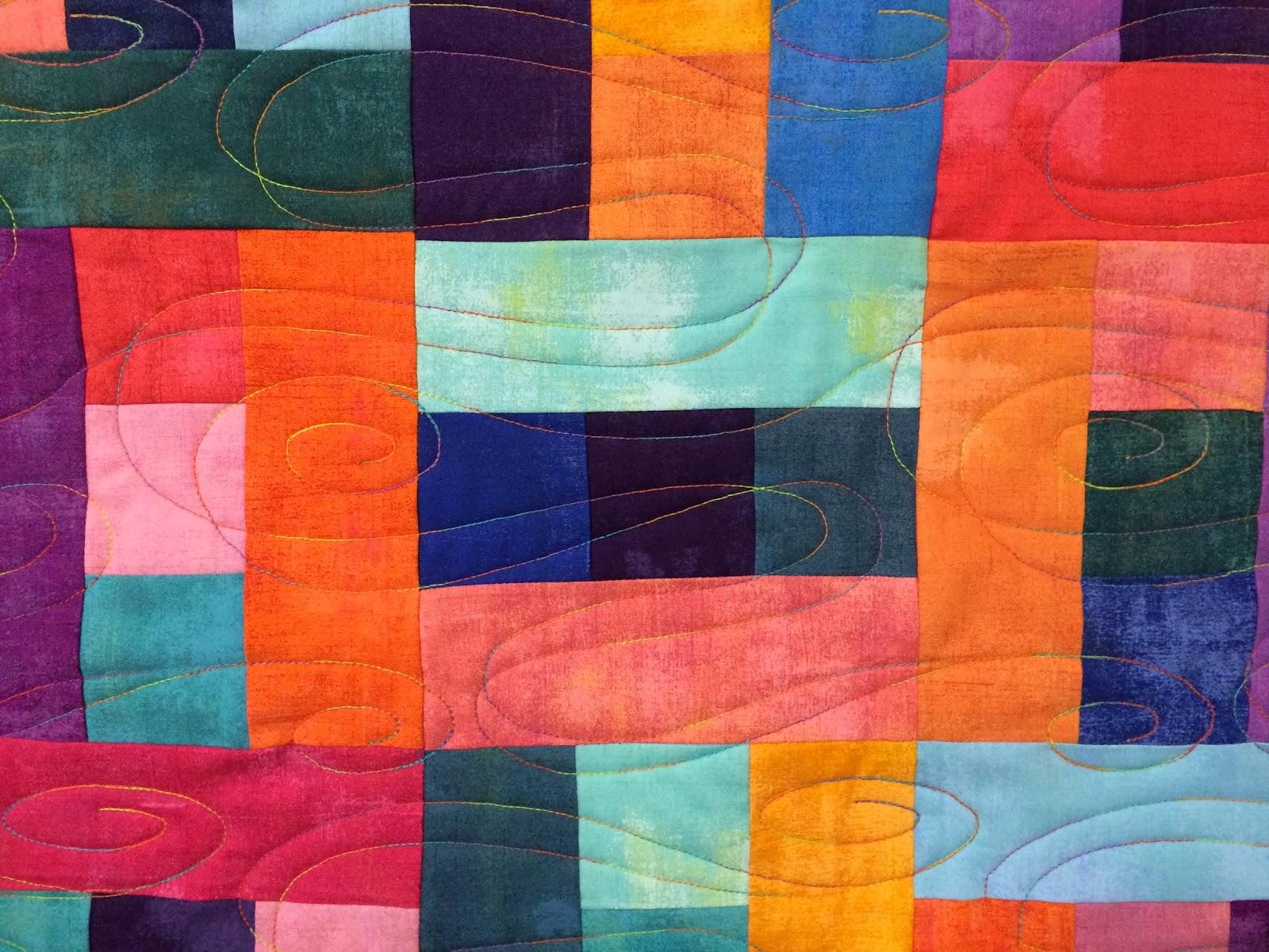 Carolyn Seward's Multi-Grunge Solids Quilt