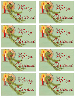 christmas tag sheet image