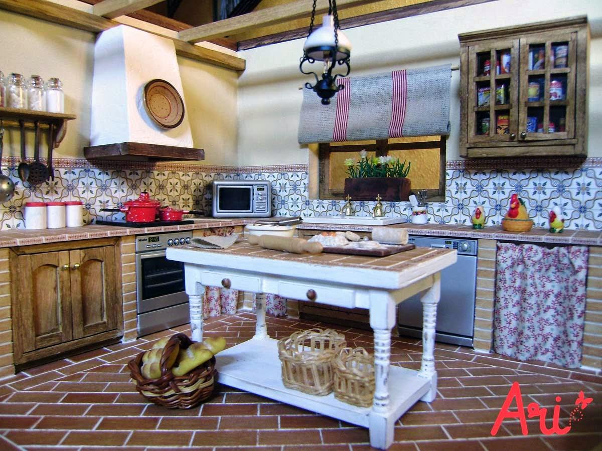 Cortinas de cocinas rusticas cheap trucos para decorar for Cortinas para muebles de cocina